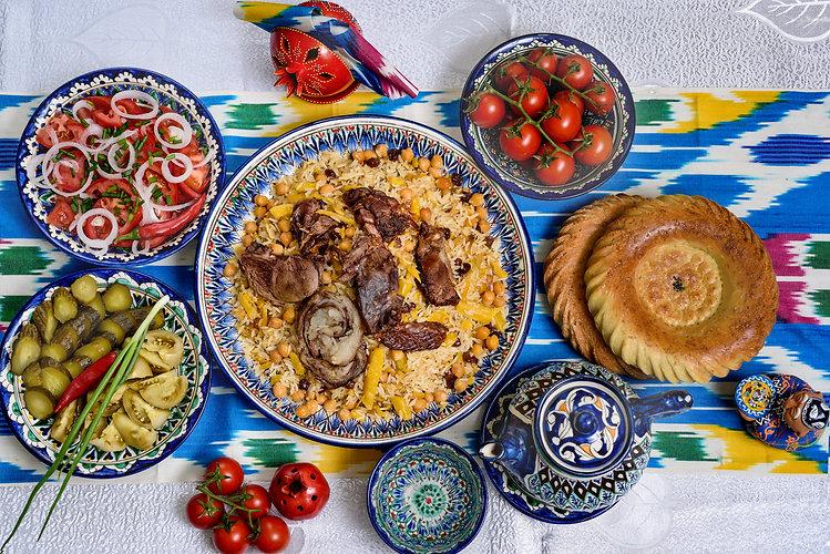 Uzbek cuisine (food) pilaf (plov palov o