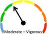 RPE intensity chart displaying moderate to vigorous intensity.