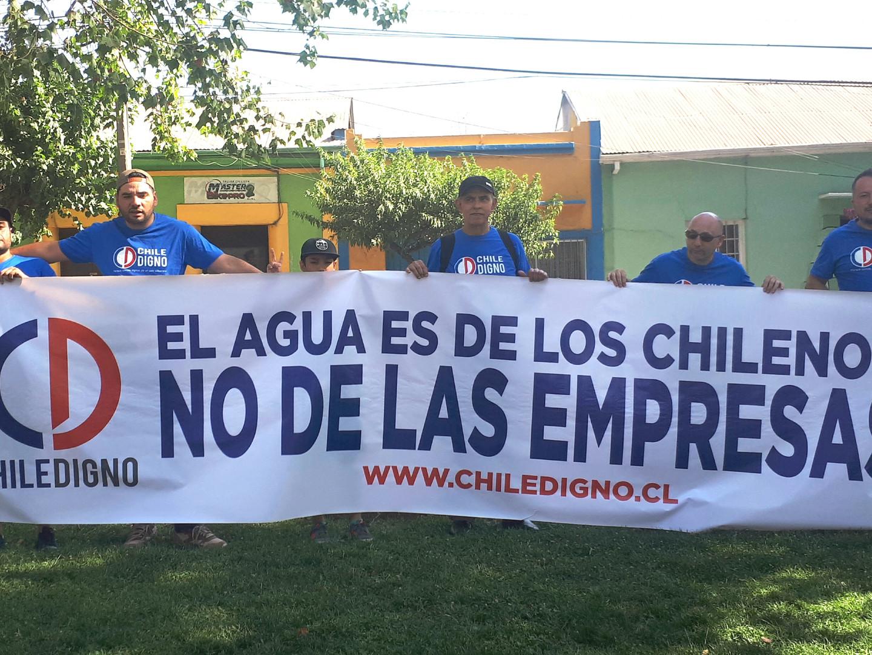 El agua es de los Chilenos