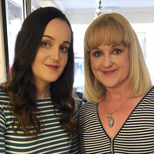 hair&makeup for this mother daughter duo