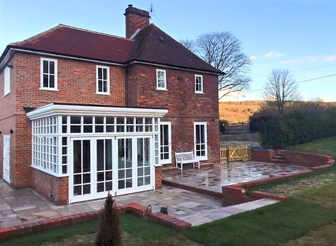 Two storey extension with garden room