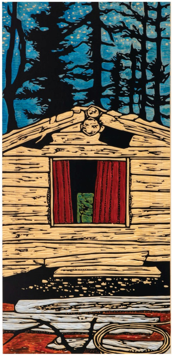 Old Cabin, Red Window