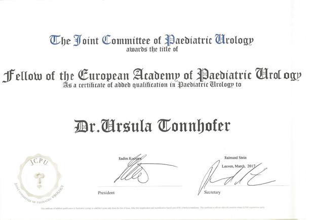 FEAPU certificate Tonnhofer
