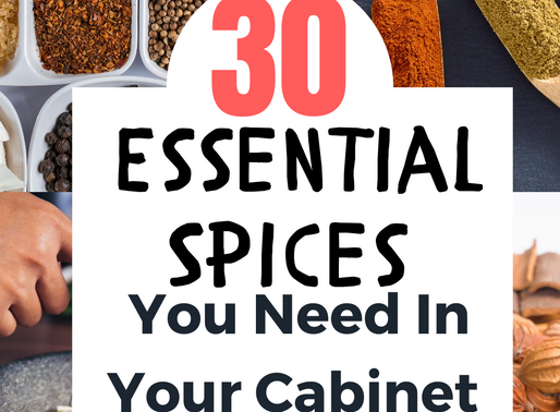 30 Essential Spices For Your Cabinet
