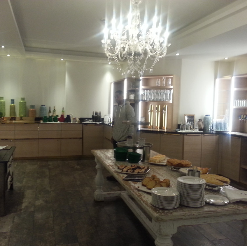 Part of the buffet area