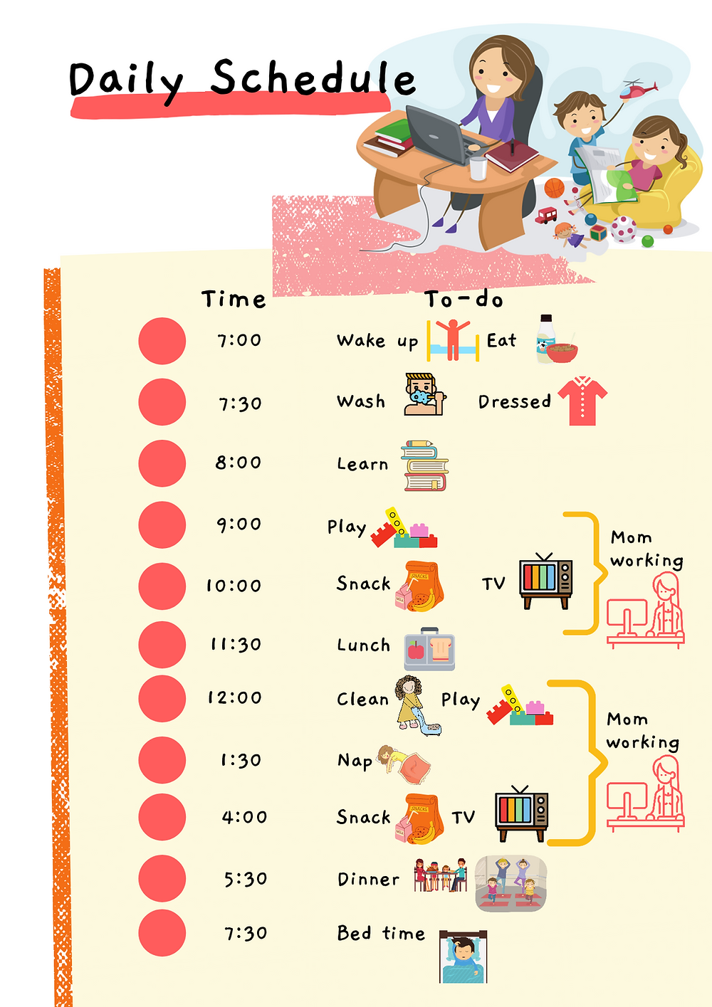 Daily Schedule, Kids version