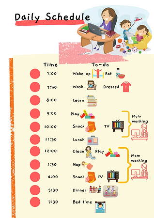 Daily Family Schedule