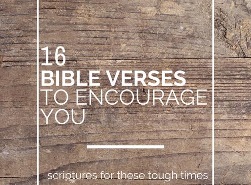 16 Bible Verses for Encouragement