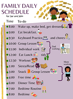 family daily schedule