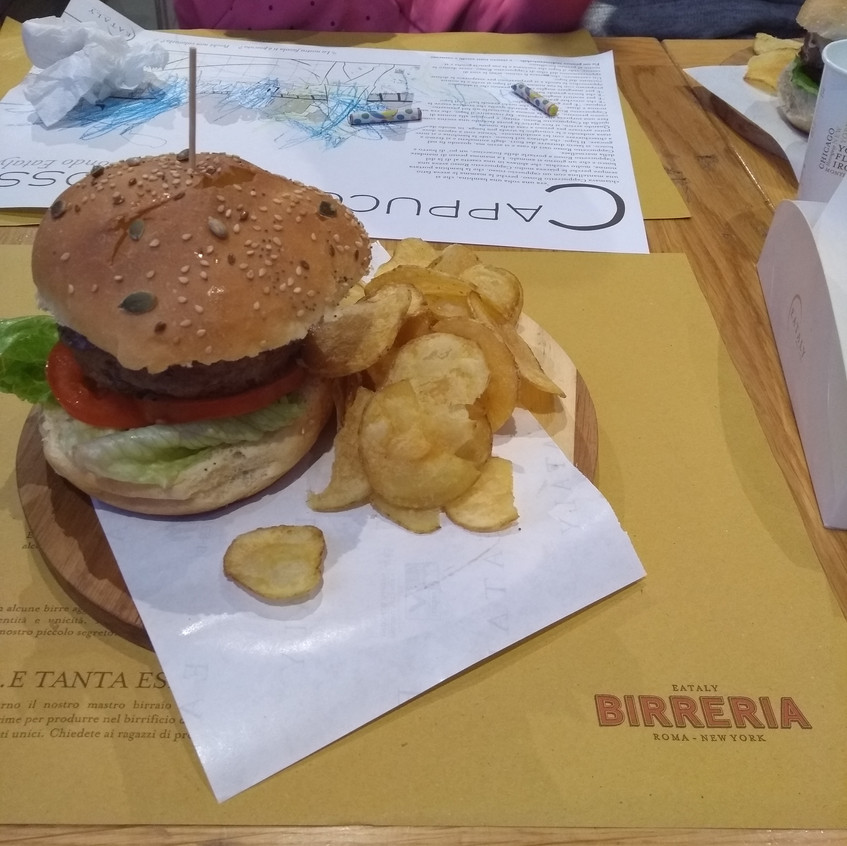 Burger for lunch