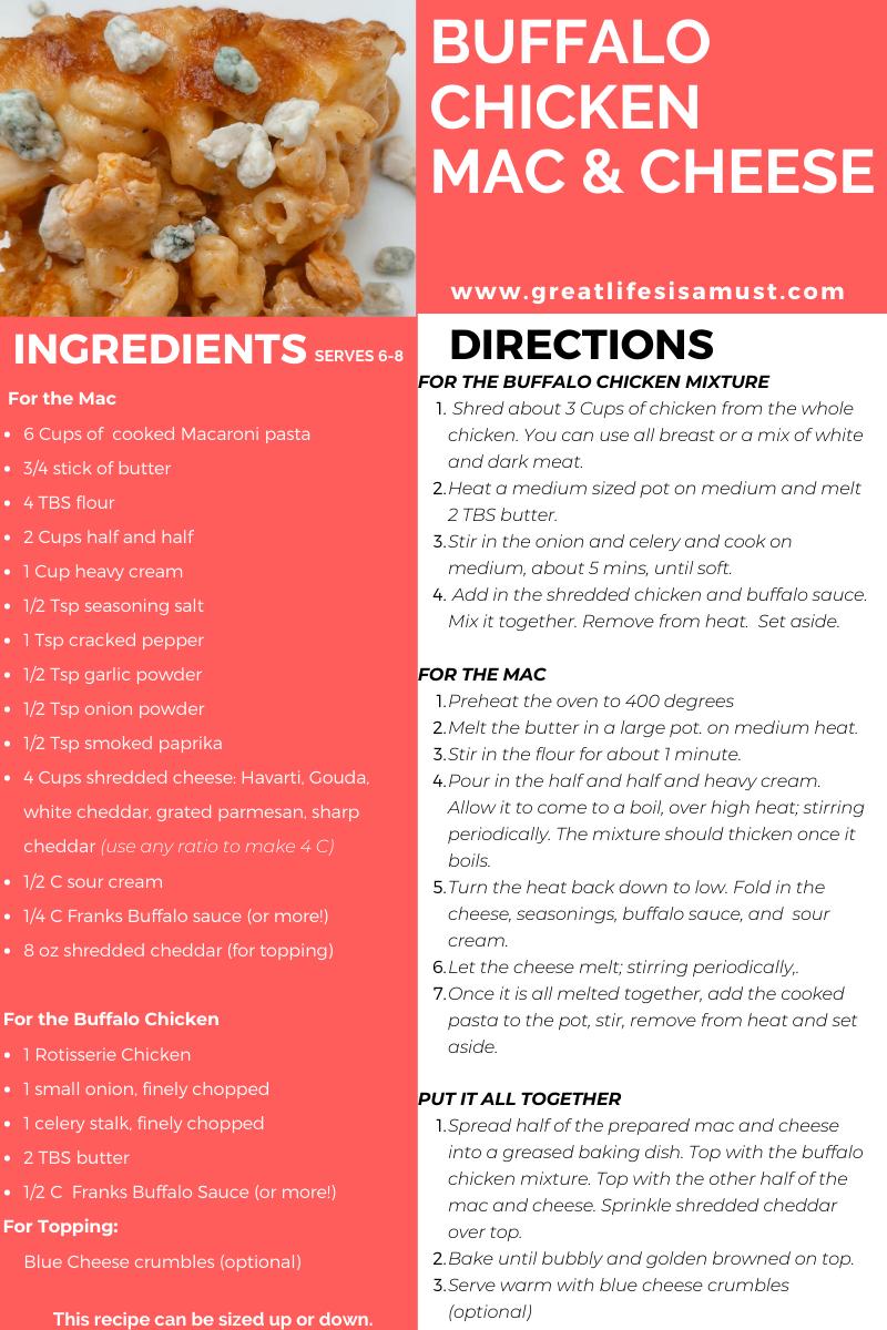 buffalo chicken mac and cheese recipe