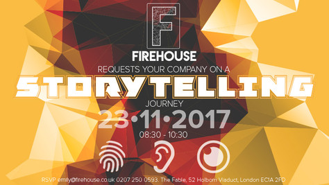 Firehouse storytelling seminar - back by popular demand!