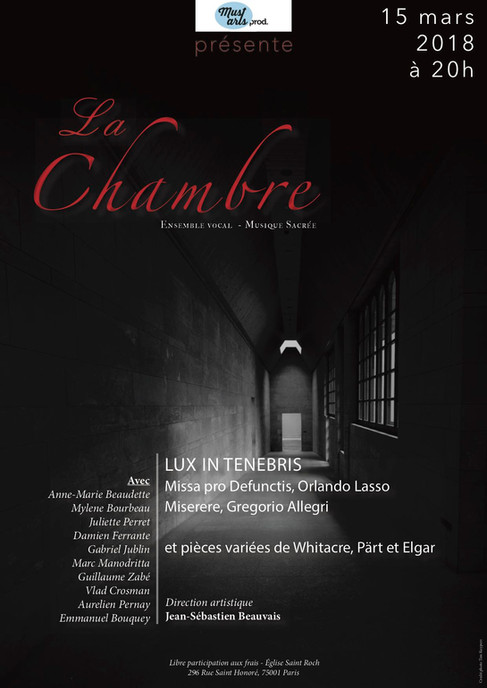 Concert Saint Roch - Lux in Tenebris