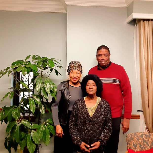 Armando Smith of Housing Forward, Eula Rowley and Jo Allison, Fresh Oil Fresh Fire Inc.