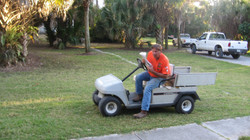 Mike on his cart