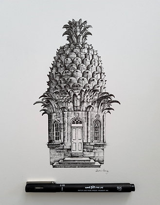 Dunmore Pineapple Original Drawing