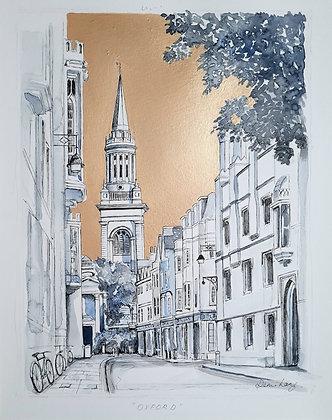 Oxford Original Artwork Watercolour & Ink