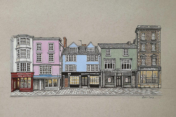 Oxford High Street, Original A4 Illustration