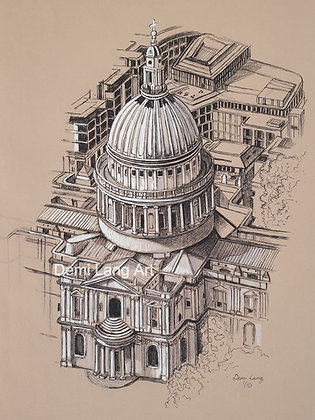 St. Paul's Cathedral, London, UK. Limited Edition Giclée Print