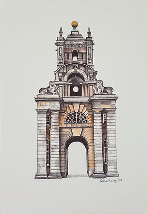 Blenheim Palace Clock Arch, Oxfordshire, UK