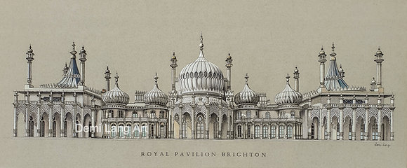 Royal Pavilion Brighton A3 Print