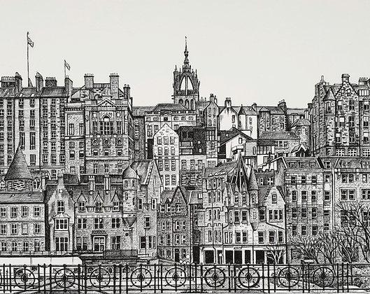 Edinburgh Old Town, Edinburgh, Scotland Print