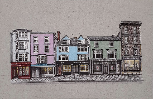 Oxford High Street A4 Print