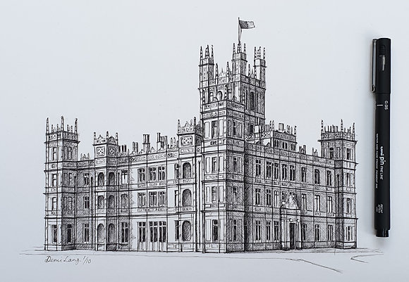 Highclere Castle Limited Edition A4 Giclee Print