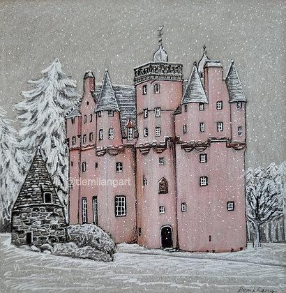 Craigievar Castle, Original Mounted Sketch