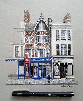 Broad Street, Oxford Original Sketch