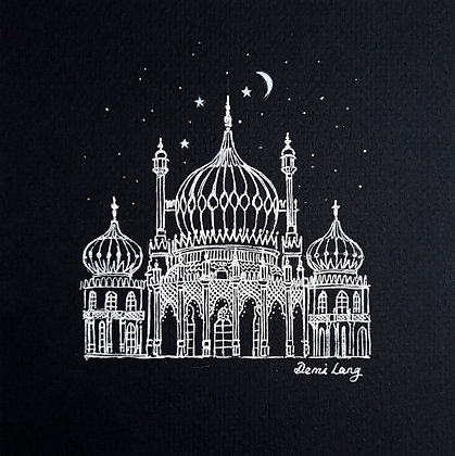Royal Pavilion Brighton Mounted Original Sketch