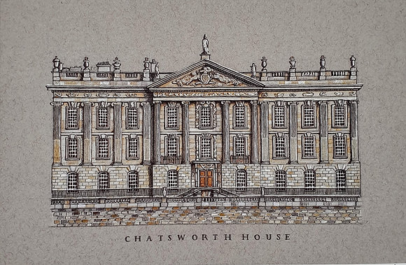 Chatsworth House Limited Edition A4 Giclée Print