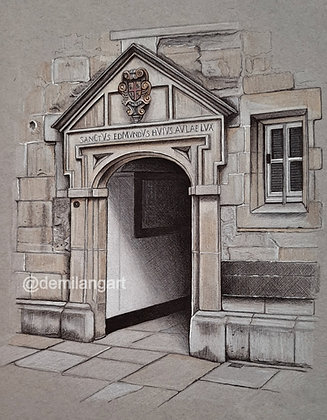 """St. Edmunds Hall, Oxford. Limited Edition Giclee Print 8"""" x 10"""""""