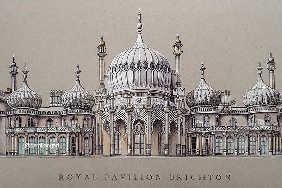 Royal Pavilion Brighton Limited Edition A3 Giclee Print