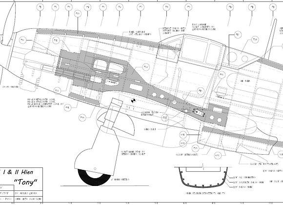 Ki-61 I/IIa set of plans (7 Sheets)