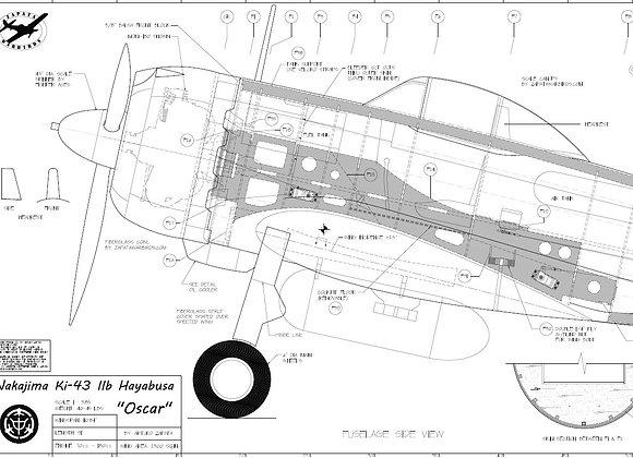 Ki-43 set of plans (7 sheets)