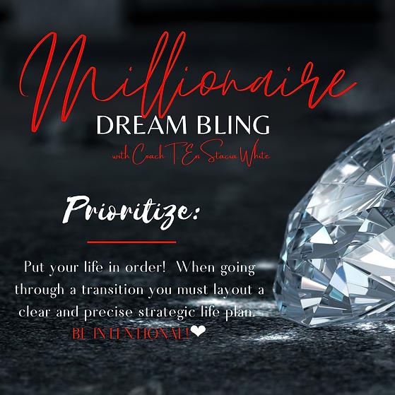 Millionaire DREAM BLING Organize, priori