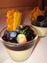 Posset with blackberry and