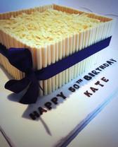 White chocolate shard cake