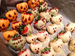 Halloween strawberries