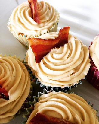 Beer and bacon cupcake