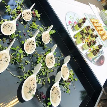 Crab salad spoons