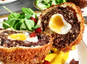 Black pudding Scotch quail egg