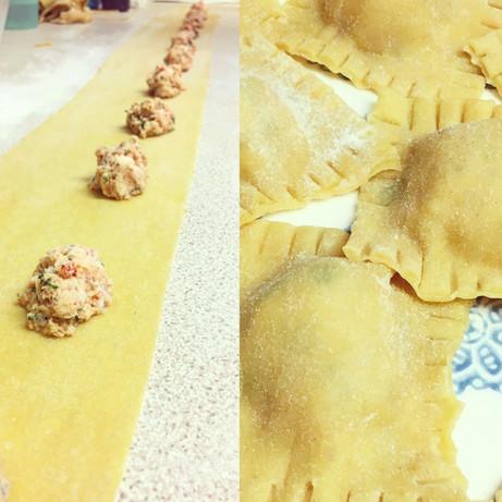 Crab raviolli