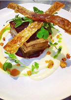 Pork with garlic puree