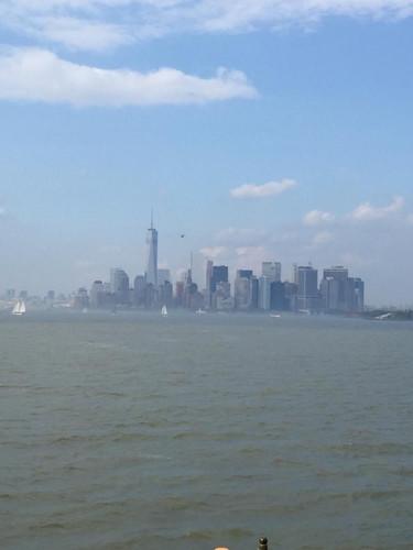 Vista de Manhattan desde el Ferry de Staten Island