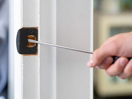 HOW TO FIX A LOOSE DOOR LATCH SO YOUR DOOR DOESN'T SHAKE