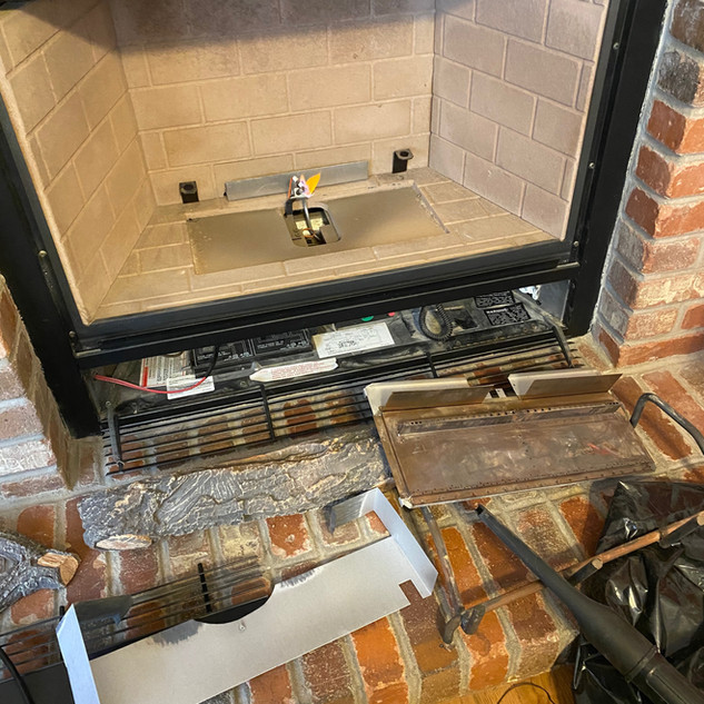 Fireplace Fix + Clean