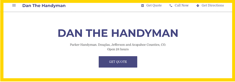 Dan The Handyman Website