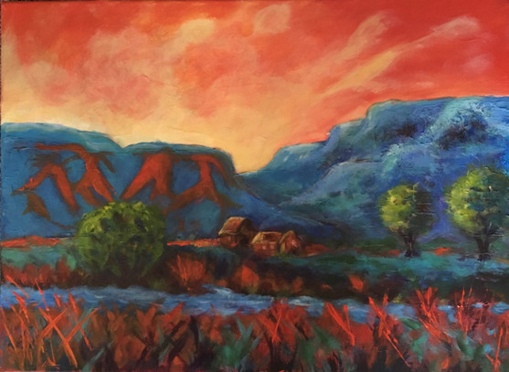 Orange Sky 16x22 $350